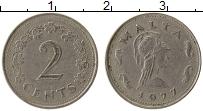 Изображение Монеты Мальта 2 цента 1977 Медно-никель XF