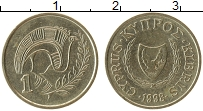 Изображение Монеты Кипр 1 цент 1998 Латунь XF