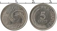 Изображение Монеты Сингапур 5 центов 1976 Медно-никель UNC-