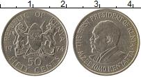 Изображение Монеты Кения 50 центов 1974 Медно-никель XF Мзее Йомо Кеньятта