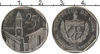 Изображение Монеты Куба 25 сентаво 2001 Медно-никель XF