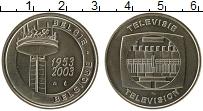 Изображение Монеты Бельгия Жетон 2003 Медно-никель UNC 50 лет телевидению