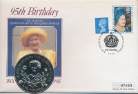Изображение Подарочные монеты Гернси 5 фунтов 1995 Медно-никель UNC