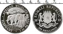 Продать Монеты Сомали 100 шиллингов 2013 Серебро