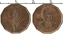 Изображение Монеты Свазиленд 1 цент 1975 Бронза UNC- ФАО