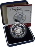 Изображение Подарочные монеты Тристан-да-Кунья 1 крона 2010 Серебро Proof