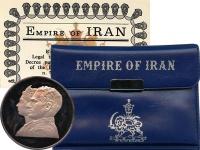 Изображение Подарочные монеты Иран 200 риалов 1971 Серебро Proof-