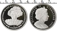 Изображение Монеты Гибралтар 1 крона 2001 Серебро Proof