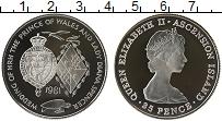 Изображение Монеты Остров Вознесения 25 пенсов 1981 Серебро Proof