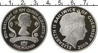 Изображение Монеты Гернси 5 фунтов 2006 Серебро Proof