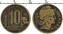 Изображение Монеты Аргентина 10 сентаво 1943 Латунь VF
