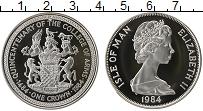 Изображение Монеты Остров Мэн 1 крона 1984 Серебро Proof Елизавета II. 500 ле