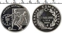 Изображение Монеты Турция 7500000 лир 2000 Серебро Proof-