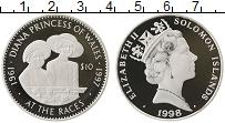 Изображение Монеты Соломоновы острова 10 долларов 1998 Серебро Proof Елизавета II. Принце