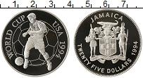 Изображение Монеты Ямайка 25 долларов 1994 Серебро Proof- Чемпионат Мира по фу