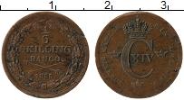 Изображение Монеты Швеция 1/6 скиллинга 1835 Медь XF- Карл XIV