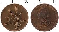Изображение Монеты Турция 10 куруш 1980 Медь UNC-