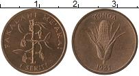 Изображение Монеты Тонга 1 сенити 1981 Медь UNC-