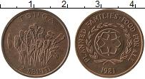 Изображение Монеты Тонга 2 сенити 1981 Медь UNC-