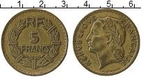 Изображение Монеты Франция 5 франков 1946 Латунь XF