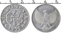 Изображение Монеты Индонезия 25 сен 1955 Алюминий UNC-