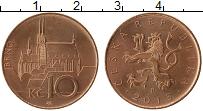 Изображение Монеты Чехия 10 крон 2013 Медь UNC-