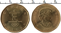 Изображение Монеты Канада 1 доллар 2010 Латунь UNC- Елизавета II. Олимпи