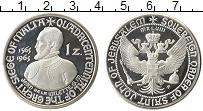 Изображение Монеты Мальтийский орден 1 цехин 1965 Посеребрение Proof-