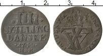 Изображение Монеты Дания 4 скиллинга 1764 Серебро VF+