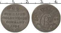 Изображение Монеты Шлезвиг-Гольштейн 2 1/2 шиллинга 1796 Серебро VF