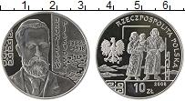 Изображение Монеты Польша 10 злотых 2008 Серебро Proof- Бронислав Пилсудский