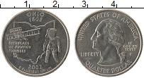 Изображение Мелочь США 1/4 доллара 2002 Медно-никель UNC- P. Штат Огайо