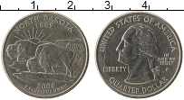 Изображение Мелочь США 1/4 доллара 2006 Медно-никель UNC- Р. Штат Северная Дак
