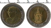 Изображение Монеты Таиланд 10 бат 2007 Биметалл UNC 80 лет королю Раме I