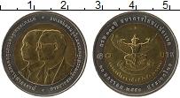 Изображение Монеты Таиланд 10 бат 2007 Биметалл UNC 100 лет Первого комм