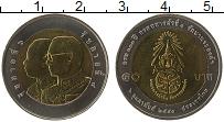 Изображение Монеты Таиланд 10 бат 2007 Биметалл UNC 100 лет Королевской