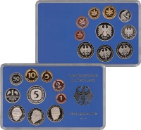 Изображение Подарочные монеты ФРГ Монеты 1998 (чеканка Гамбурга) 1998  Proof