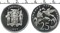 Изображение Монеты Ямайка 25 центов 1977 Медно-никель Proof-