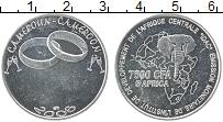 Изображение Монеты Камерун 7500 франков 2006 Посеребрение UNC Обручальные кольца