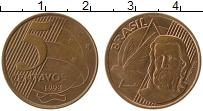 Изображение Монеты Бразилия 5 сентаво 1998 Бронза XF Тирадентес