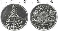 Продать Монеты Латвия 1 лат 2009 Медно-никель