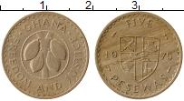 Изображение Монеты Гана 5 песев 1975 Медно-никель XF