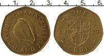 Изображение Монеты Гана 1 седи 1979 Латунь XF