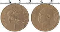 Изображение Монеты Танзания 1 шиллинг 1972 Медно-никель VF