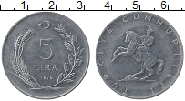 Изображение Монеты Турция 5 лир 1976 Железо UNC- Кемаль Ататюрк
