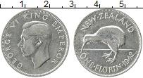 Изображение Монеты Новая Зеландия 1 флорин 1942 Серебро XF