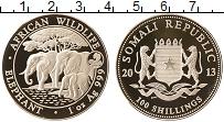Изображение Монеты Сомали 100 шиллингов 2013 Серебро Proof