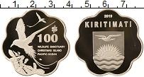 Изображение Монеты Кирибати 100 долларов 2019 Посеребрение Proof