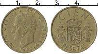 Изображение Монеты Испания 100 песет 1983 Латунь VF Хуан Карлос I