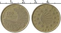 Изображение Монеты Испания 100 песет 1993 Латунь VF
